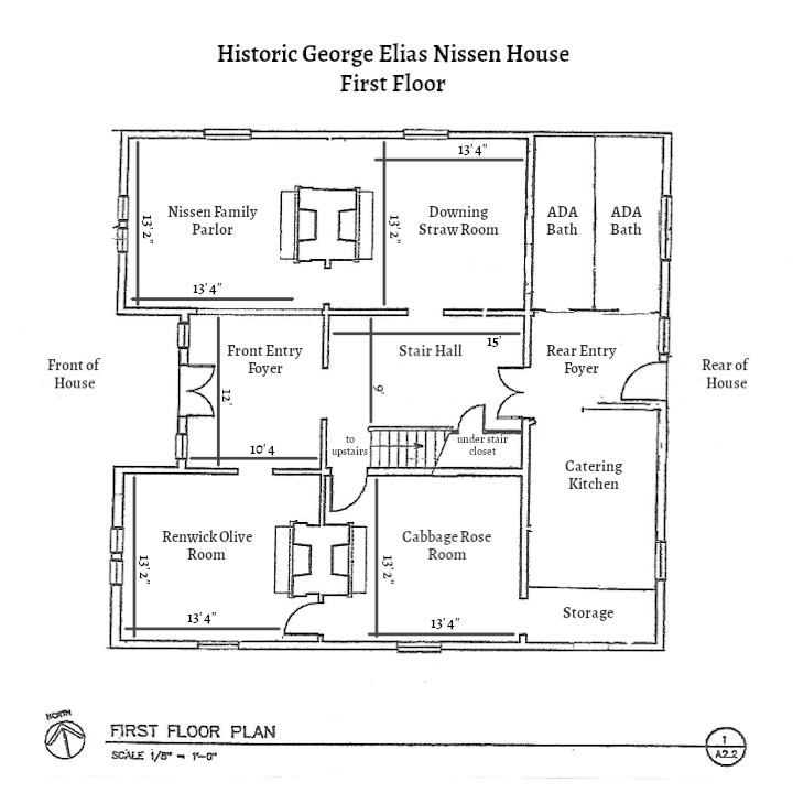 George Elias Nissen House Floorplan